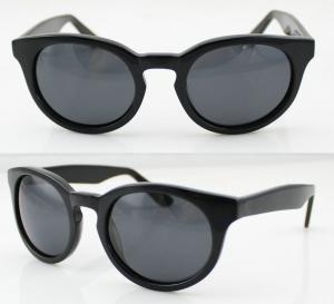 Best Fashion Black Acetate Frame Sunglasses , Ladies Sunglasses wholesale