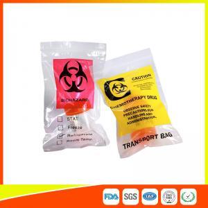 Best Zip Lock Plastic Biohazard Specimen Bags / Vaccine Transport Bags Waterproof wholesale