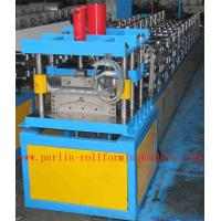 Best Corrugated Color Steel Roof Ridge Cap Roll Forming Machine , Trapezoidal Profile Roll Former wholesale