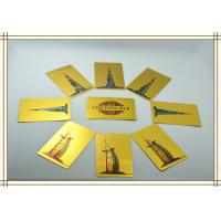 Best 87mm * 57mm 24K Gold Plated Playing Cards for business gifts wholesale