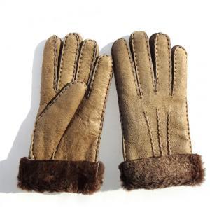 Best comfortable spanish sheepskin double face gloves soft lamb fur gloves winter gloves women gloves wholesale