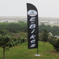 Cheap Double Sided Beach Flag Banner Sublimation Printing Aluminum / Fiberglass Poles for sale