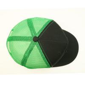 Cheap Oem Custom Trucker Caps , Plastic Adjustable Buckle Green 100 Polyester Trucker for sale