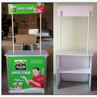 Cheap Trade Show Promotional Display Counter Kiosk Banner Stand Full Color Printing for sale