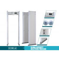 China Touch screen walk thru gate / 100 security door metal detector Counter function on sale