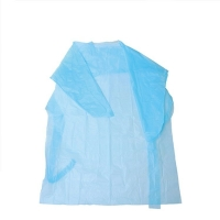 Best Disposable Hospital Cpe Blue Isolation Gown With Long Sleeves For Civil Usage wholesale