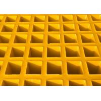 Best High Strength Fiberglass Walkway Grating, Grey Concave Surface FRP Molded Grating wholesale