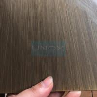 Best SUS304 Hairline Bronze Stainless Steel Sheet ,PVD Color Decoration Sheets 1250mm 1500mm Copper, Brass, Bronze wholesale
