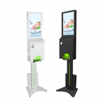Best Battery Operated 21.5 inch hand sanitizer digital signage with thermal printer wholesale
