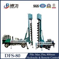 Best 11m DFS-80 Screw piling machine, spiral piling machine for sale wholesale