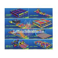 Best Relax Pressure Blow Up Obstacle Course Playground Equipment Heavy Duty wholesale