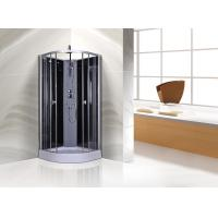 Best Circle Grey Quadrant Shower Cubicles 900 X 900 X 2250 MM ABS Tray Chrome Profiles wholesale