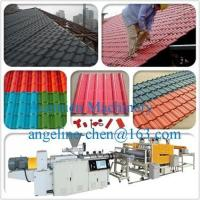 Best PVC+ASA anti-ultraviolet/anti-corrosion glazed roof tile/roofing sheet extrusion equipment wholesale