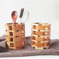Best Kitchen Spoon Fork Bamboo Display Unit / Bamboo Chopstick Holder Portable wholesale