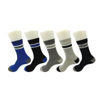 Best Anti - Bacterial Cashmere Cotton Dress Socks With Different Color Stripes wholesale