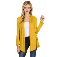 Buy cheap 100% Viscose Womens Long Cardigans Loose Fit Blouse Cardigans Shrug Design from wholesalers