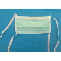 Best Green 3 Ply Non Woven Face Mask , Sterile Disposable Medical Face Masks wholesale