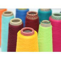 Best Colourful Sewing Thread Yarn , Single / Double Plys Polyester Staple Yarn wholesale