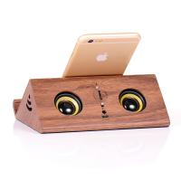 Best Bamboo Wireless Phone Bracket Wood Magic Speaker With Card Play wholesale
