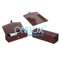 Best Foldable Leather Wine Packaging Boxes Display With Magnet Closure wholesale