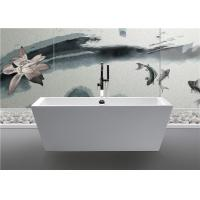 Best Clear Luxury Square Freestanding Bathtub Rectangular Corner Tub Pure Color wholesale