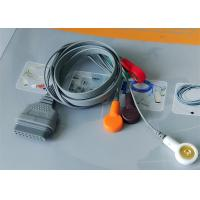 Best Snap Electrode Ecg Accessories Holter Cable 5 Leads For Patient Use wholesale