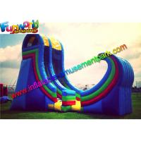 Best Durable Giant Commercial Inflatable Slide Plato 0.55 PVC With Air Blower wholesale