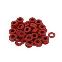 Best Red Silicone Rubber Seal Ring Food Grade Weathering Processing For Glass Washer wholesale