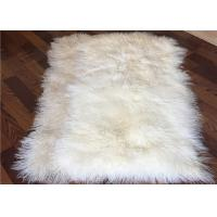 Cheap 4' X 6' Tibetan Mongolian Large Rectangular Sheepskin Rug Soft For Bed Covers for sale
