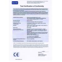 Wenzhou Hanfeng Machinery Co., Ltd. Certifications