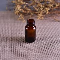 Best Old Brockway Glass amber medicine bottle Brown 2 OZ silk screen printing wholesale