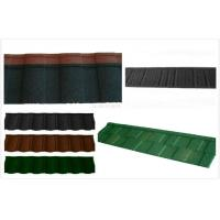 China Aluminum Coating Stone Lightweight Metal Roof Tiles / circular outdoor roofing shingle on sale