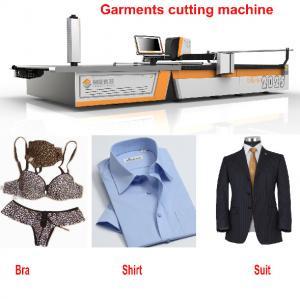 Quality CNC 1.7m Knit Fabric Cutter Knife Cutting Machine For T-Shirt / Suit / Pants / Bra wholesale