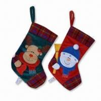 Best Christmas Stockings with Santa, Reindeer and Snowman Design, Available in Various Sizes wholesale