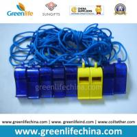 Best Blue Dark ABS Material Wholesale Whistle for Promotional Usage with Strap Lanyard wholesale