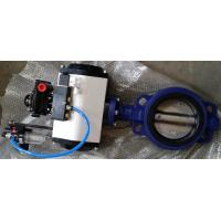 Quality DN40 ~DN1800 Pneumatic Butterfly Valve With Ductile Iron / Stainless Steel wholesale