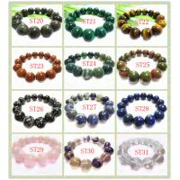 Best Natural 16mm Round Gemstone Agate Bracelet Jewelry, Semi Precious Gem Jewelry wholesale