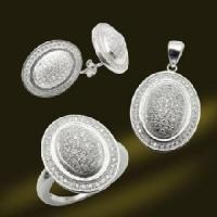 Best New Designed 925 Sterling Silver Micro Pave Setting CZ Pendant Earring and Ring Jewelry Set (RSA5471) wholesale