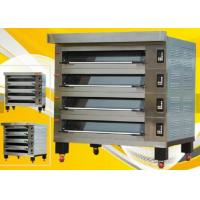 Best Stone Gas 4 Deck 12 Trays Electric Baking Oven , Stainless Steel Deck Oven with Steam wholesale