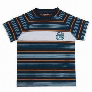 Best Boy`s colour-striped T-shrit wholesale