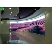 Best P6 Led Flashing Curve Indoor Full Color LED Display, 27777 Dots Per Square Meter wholesale