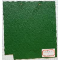 China Green Finished Pattern Artificial Leather Cloth Thickness 0.9mm Soft Handfeeling on sale