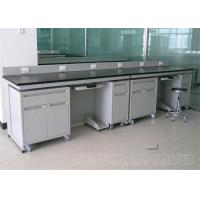 Cheap Floor Mounted Laboratory Work Benches with 304 SUS Phenolic Resin Epoxy Resin for sale
