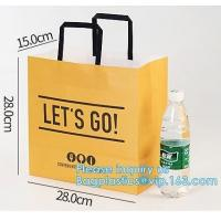 Best Promotion Recycled Custom Printed Grocery Food Take Away Shopping Brown Kraft Paper Bag With Twisted Handles, bagease wholesale