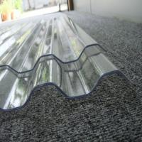 Cheap Clear Lexan Corrugated Polycarbonate Panels , Corrugated Skylight Panels for sale