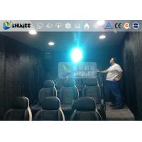 Best 9 Persons 7D Movie Theater With Special Effect System , Thrilling Drastic Movement Of Chair wholesale