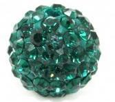 Cheap OEM 8mm Green / Red / Gold / White / Purple / Blue / Roseate Crystal Pave Ball Beads for sale