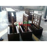 Best Prefab WPC Composite Garden Planters 759 X 438 X 950mm With Wood Garden Trellis wholesale