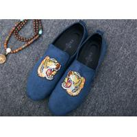 Buy cheap Men Loafer Slip On Shoes Flat Casual Shoes Tiger Metal At Vamp Velvet EUR 38 - from wholesalers
