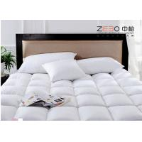 Best Square Pattern Health Hotel Mattress Topper With Zipper Stain Resistant 400gsm wholesale